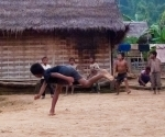 Children playing dodgeball