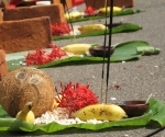 Puja: Offerings to the goddess
