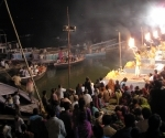 Sunset puja ceremony