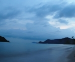 The blue light of dawn on Koh Mak's southern beach