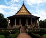 Wat Haw Phra Kaew which held the emerald Buddha until the Thai army sacked Vientiane and carried it to Bangkok