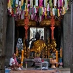 A functioning shrine at Banteay Kdei