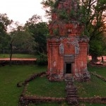 A tower at Bakong, a part of Angkor's oldest capital, Roulos