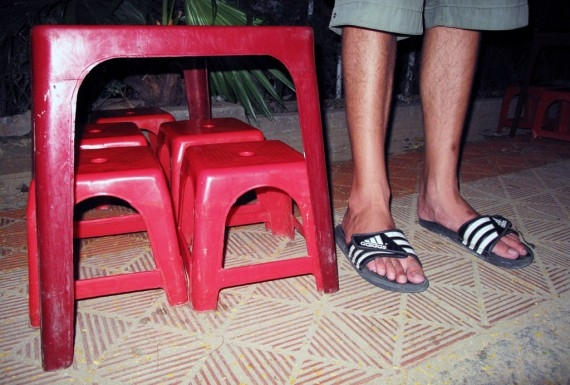 Vietnam's tiny stools, to scale
