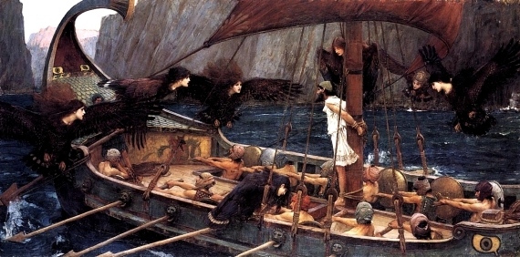 John William Waterhouse's 1891 depiction of Odysseus and the sirens